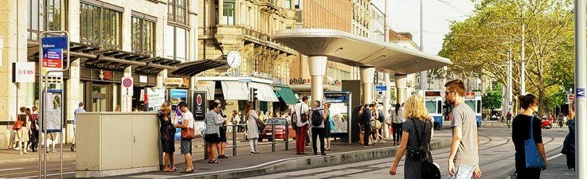 Bahnhöfe-Tram-Bushaltestellen