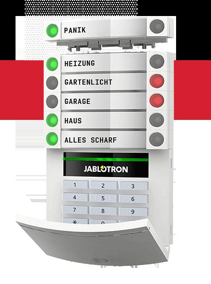Alarmanlage Privat mit Jablotron 100 Bedienteil
