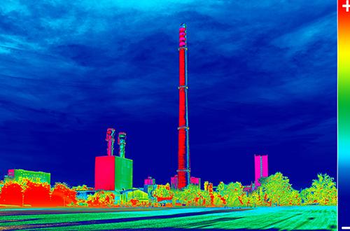 Temperaturmessung mit Wärmebildkamera in der Chemischen Industrie