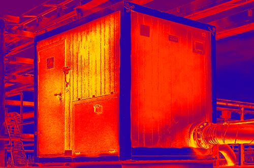 Temperaturmessung mit Wärmebildkamera in der Logistik
