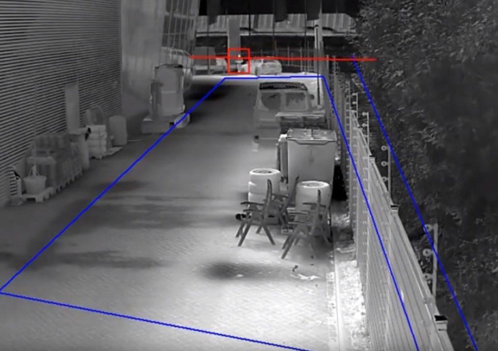 Überwachungskamera mit Intelligenz - Linienüberquerung und Eindringlingserkennung