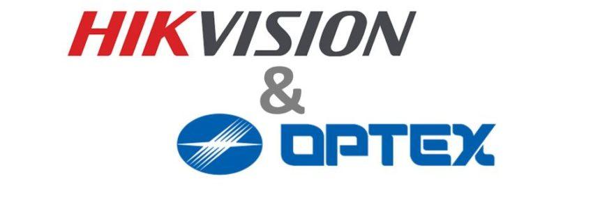 Hikvision und Optex Logo