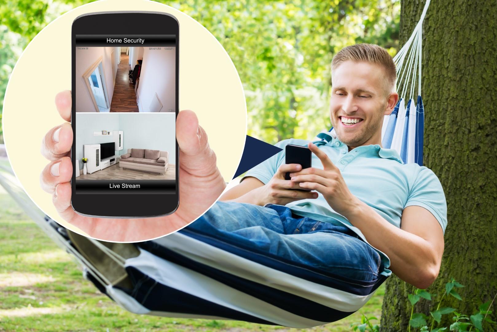 IP-Kamera von der Hängematte aus überprüfen - Mobile App für IP-Kamera